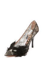 Rochas Lace Pumps With Front Bow Black