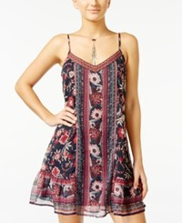 American Rag Printed Embroidered Slip Dress Only At Macy's Navy Combo