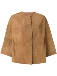 Salvatore Santoro 3 4 Sleeves Jacket Neutrals
