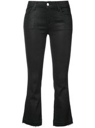 J Brand Selena Mid Rise Crop Boot Jeans Black