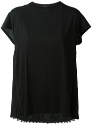 Chalayan Pleated Back T Shirt Black