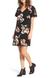One Clothing Floral Shift Dress Black Coral