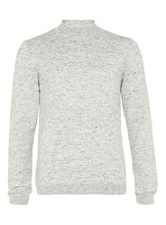 Topman Stone Mini Roll Neck Jumper Brown