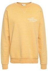 Frame Printed French Cotton Terry Sweatshirt Yellow