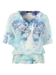 Jane Norman Angel Sleeve Top Multi Coloured