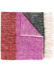 Paul Smith Ps By Striped Scarf Pink And Purple