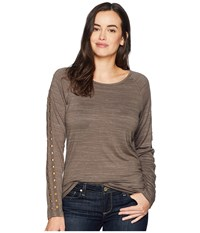 Ariat Study Top Major Brown Long Sleeve Pullover
