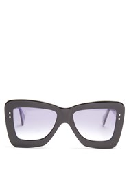 Roksanda Ilincic X Cutler And Gross Square Frame Acetate Sunglasses Navy