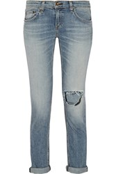 Rag And Bone The Dre Distressed Mid Rise Slim Boyfriend Jeans