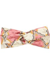 Gucci Printed Silk Twill Headband Pink
