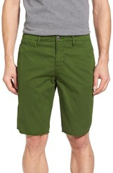 Original Paperbacks Men's 'St. Barts' Raw Edge Shorts Moss