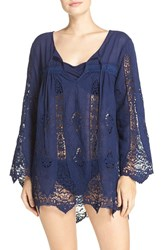 Nanette Lepore Women's 'Caraby' Crochet Cover Up Tunic