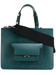 Marni Trunk Tote Women Leather Metal One Size Green