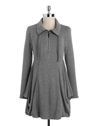Kensie Drapey French Terry Dress Heather Grey