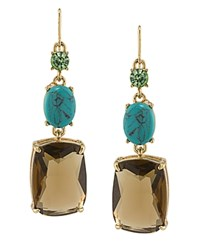 Carolee Linear Stone Earrings 100 Exclusive Gold Brown