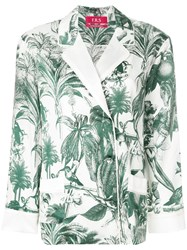 F.R.S For Restless Sleepers Tropical Print Top Green