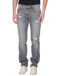 Bikkembergs Denim Pants Grey