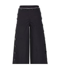 Dolce And Gabbana Cropped Wide Leg Trousers Blue