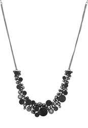 Konplott Planet River Necklace Black Antique Silver Coloured