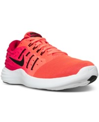 Nike Men's Lunarstelos Running Sneakers From Finish Line Total Crimson Black Gym