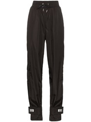 Off White High Waisted Track Trousers Black