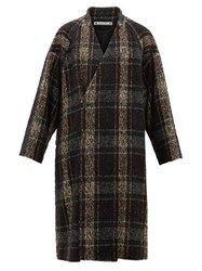 Sasquatchfabrix. Sasquatchfabrix Wool Tweed Wrap Coat Black Multi
