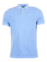 Barbour Short Sleeve Cotton Sports Polo Shirt Sky