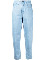 Gold Sign Goldsign High Waisted Jeans Women Cotton 26 Blue