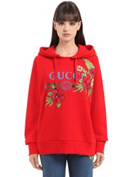 Gucci Embroidered And Printed Cotton Sweatshirt