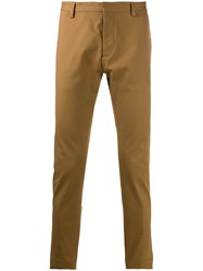 Dsquared2 Slim Fit Tailored Trousers Brown