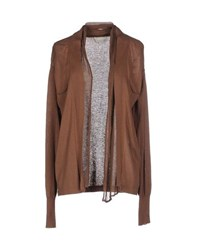 Alysi Knitwear Cardigans Women Brown