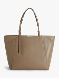 Coccinelle Cher Leather Tote Bag Taupe