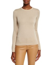 Ralph Lauren Collection Long Sleeve Cashmere Crewneck Sweater Honey