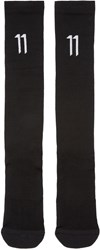 11 By Boris Bidjan Saberi Black Logo Socks
