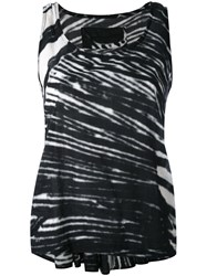 Rundholz Black Label Striped Tank Top Women Cotton M White