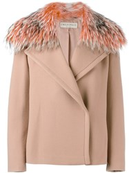 Emilio Pucci Broad Lapel Detail Jacket Pink And Purple