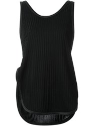 3.1 Phillip Lim Ribbed Knotted Tank Top Black