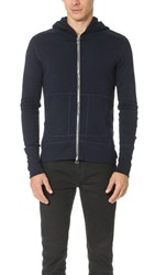 Wings Horns Base Full Zip Hoodie Navy