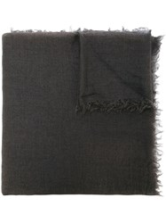 Rick Owens Raw Edge Scarf Grey