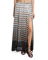 Missoni Mare Zigzag Ombre Beach Maxi Skirt Black