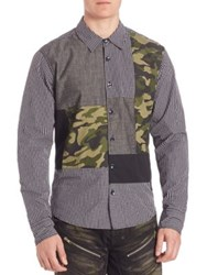 Prps Regular Fit Multi Media Woven Shirt Black