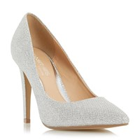Head Over Heels Addyson Pointed Toe High Heel Court Shoes Silver