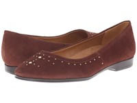 Naturalizer Joana Bridal Brown Suede Women's Flat Shoes