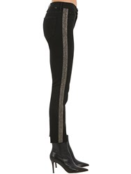 Mother The Rascal Mid Rise Denim Ankle Jeans Black