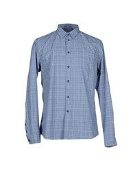 Folk Shirts Shirts Men Pastel Blue
