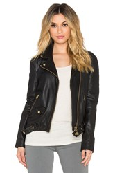 Doma Leather Boyfriend Jacket Black