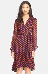 Diane Von Furstenberg 'Catherine Two' Silk Print Dress Giraffe Daze Dot