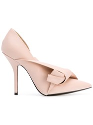 N 21 No21 Bow Pumps Women Calf Leather Leather 38 Pink Purple