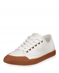 Tretorn Marley 2 Leather Sneaker White Yellow