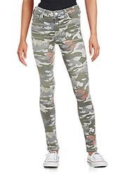 True Religion Halle Super Skinny Mixed Print Jeans Camo